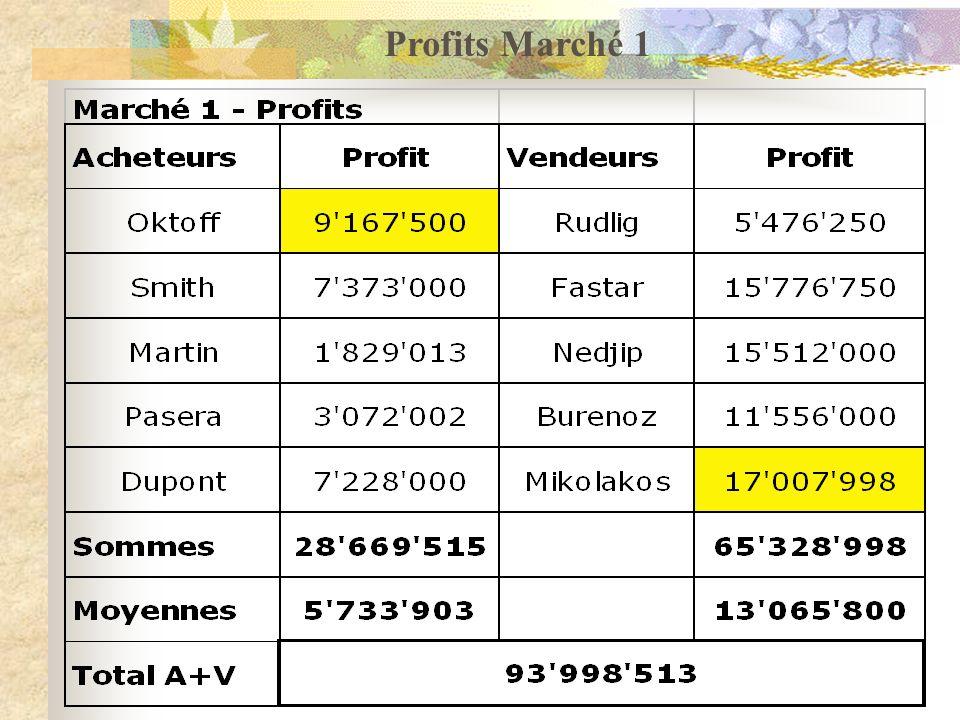 Quelques indications conclusives La simulation de marché fonctionne bien (depuis 2006) Tout le monde est en concurrence (Acheteurs et Vendeurs) Vous avez fait des profits très supérieurs au jeu B2B 2008 (temps limité de ½ journée).