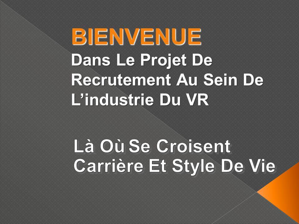 BIENVENUE Dans Le Projet De Recrutement Au Sein De Lindustrie Du VR