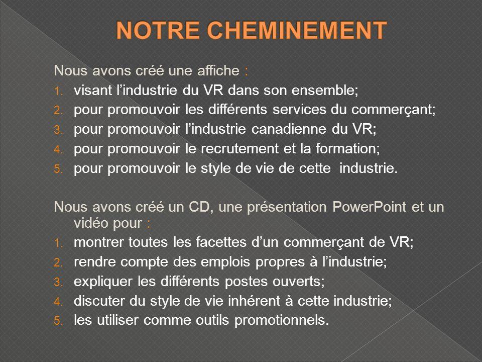 Nous avons créé une affiche : 1. visant lindustrie du VR dans son ensemble; 2.