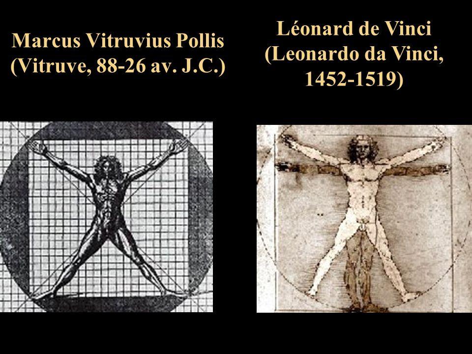 Marcus Vitruvius Pollis (Vitruve, 88-26 av. J.C.) Léonard de Vinci (Leonardo da Vinci, 1452-1519)