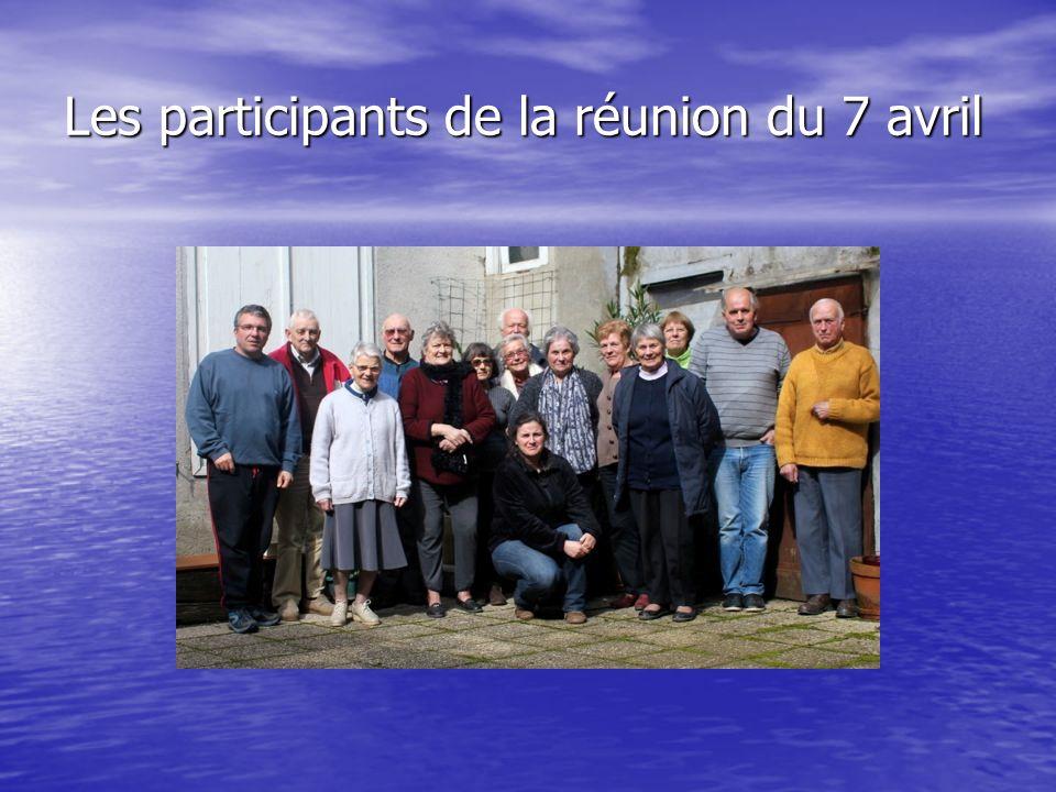 Les participants de la réunion du 7 avril