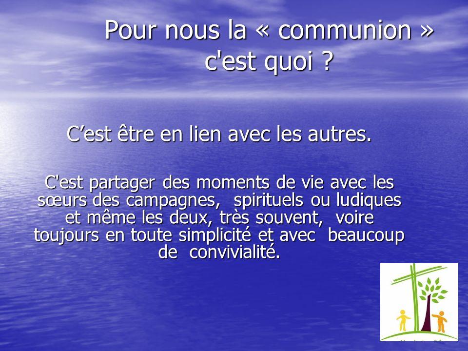 Il nous est aussi proposé différentes activités Le rassemblement des familles spirituelles à Lourdes su 18 au 20 octobre 2013.