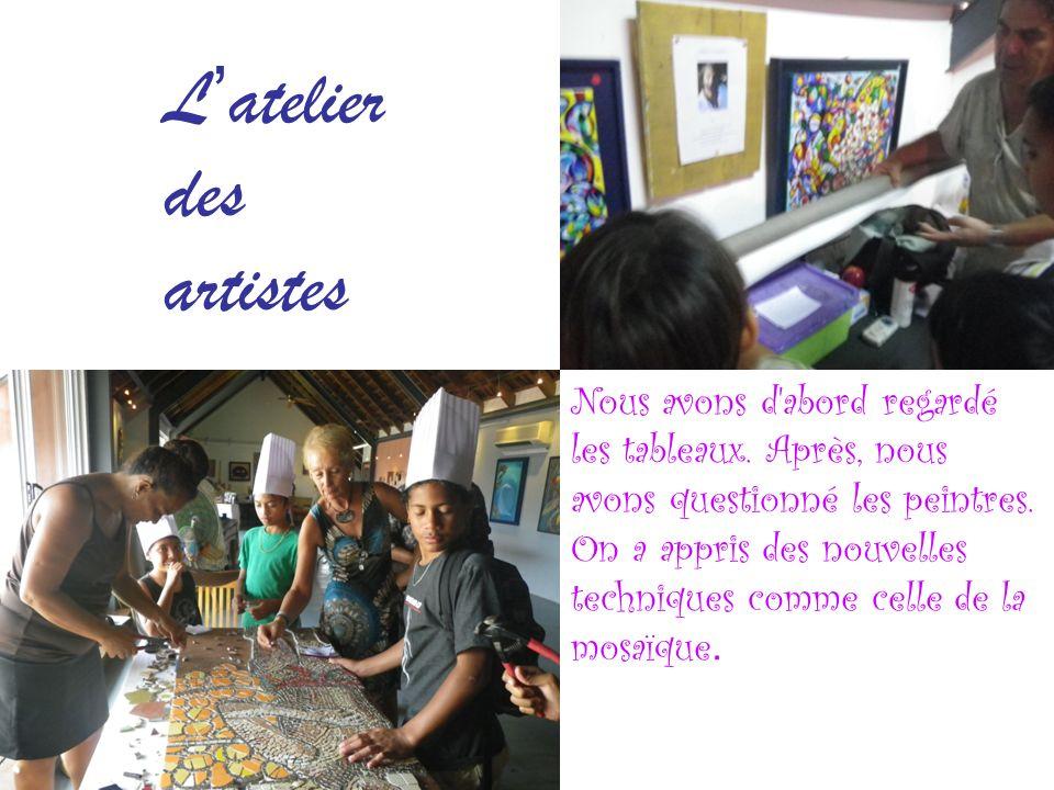 Latelier des artistes Nous avons d abord regardé les tableaux.