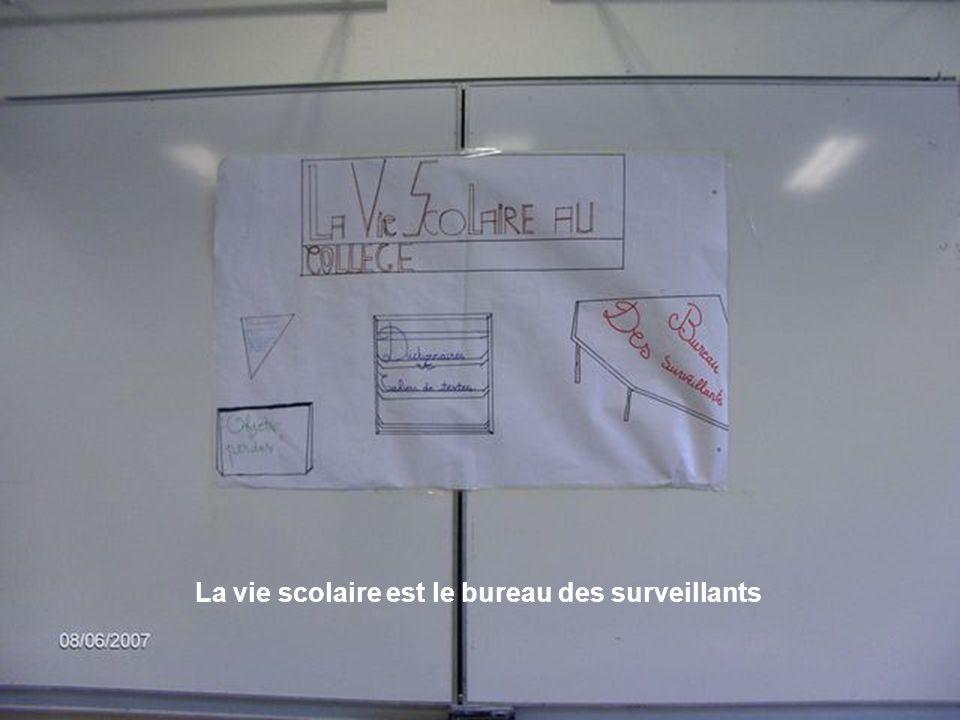 La vie scolaire est le bureau des surveillants