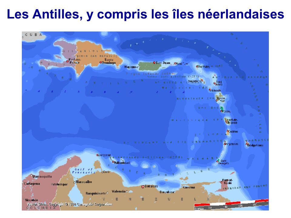 Les Antilles, y compris les îles néerlandaises