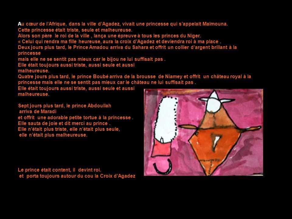 Au cœur de lAfrique, dans la ville dAgadez, vivait une princesse qui sappelait Maïmouna.
