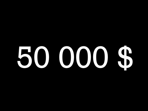 50 000 $