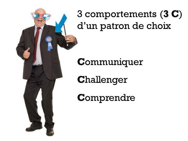 3 C 3 comportements (3 C) dun patron de choix C Communiquer C Challenger C Comprendre