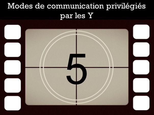 Modes de communication privilégiés par les Y 5