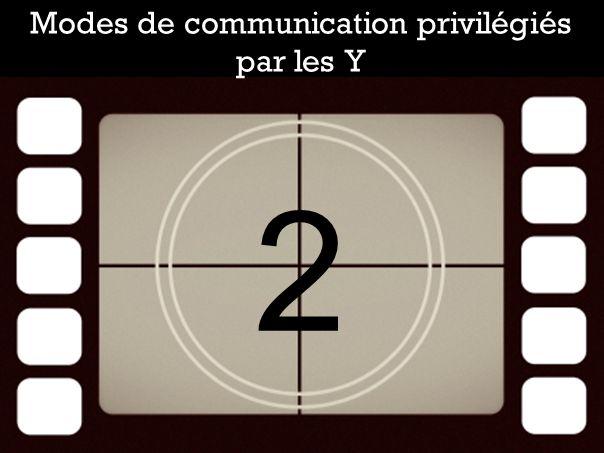 2 Modes de communication privilégiés par les Y
