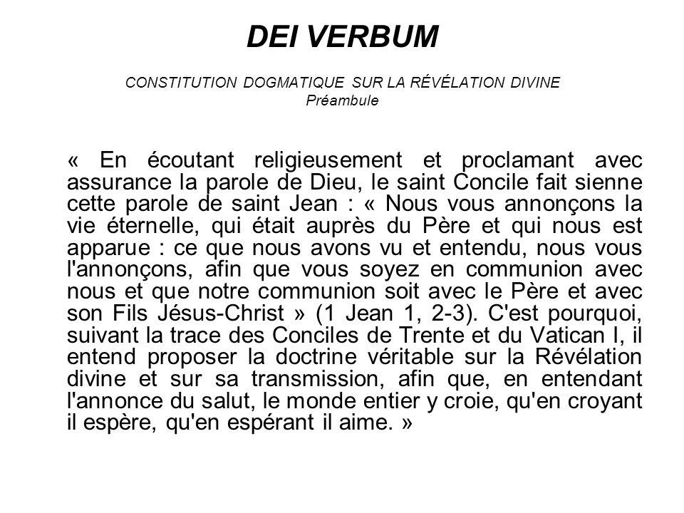 (Préparation de la Révélation évangélique) 3.« Dieu, qui crée (cf.