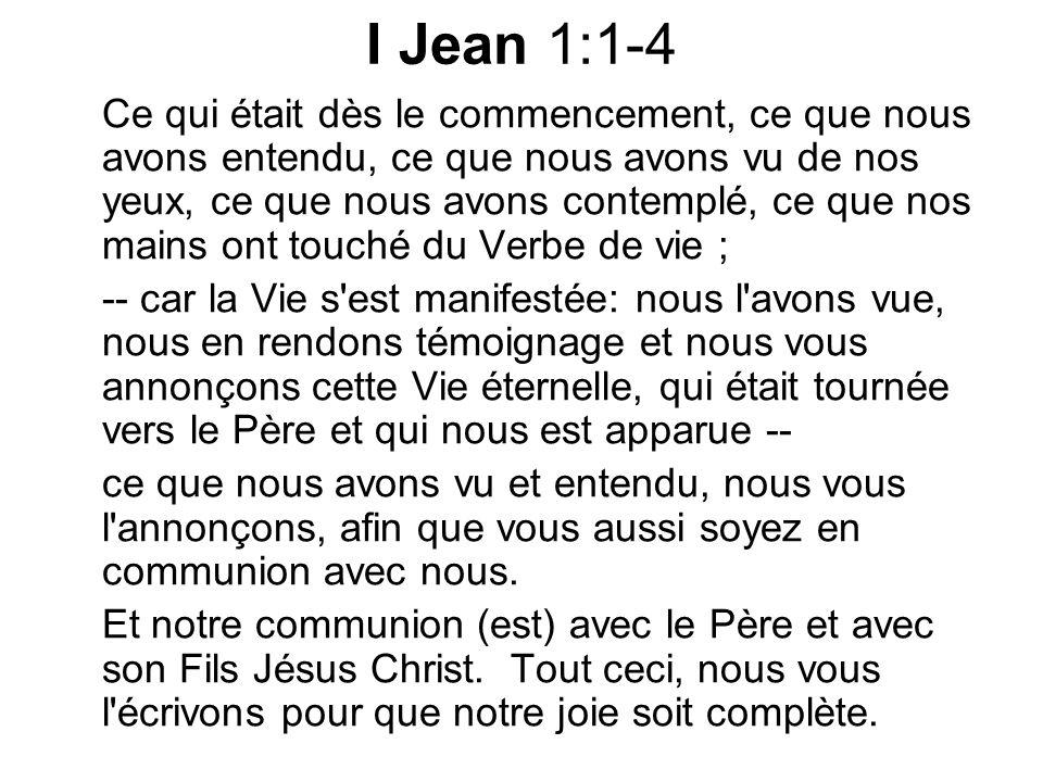 Jean 1:1 Au commencement était le Verbe et le Verbe était avec Dieu et le Verbe était Dieu.