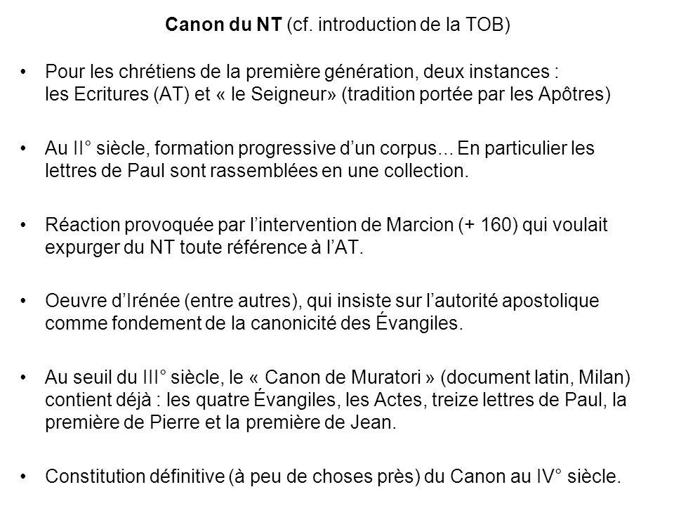 Canon du NT (cf.