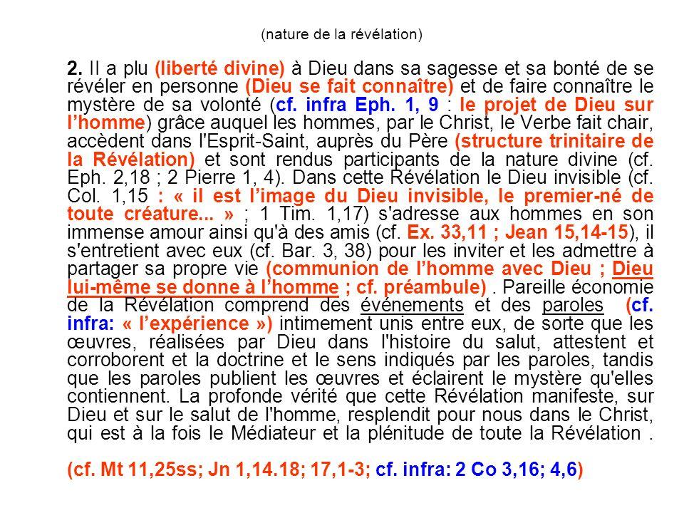 Vatican I (Dei Filius) Connaissance naturelle de Dieu Connaissance surnaturelle de Dieu (en tant qu il est inaccessible) par la raison par la révélation