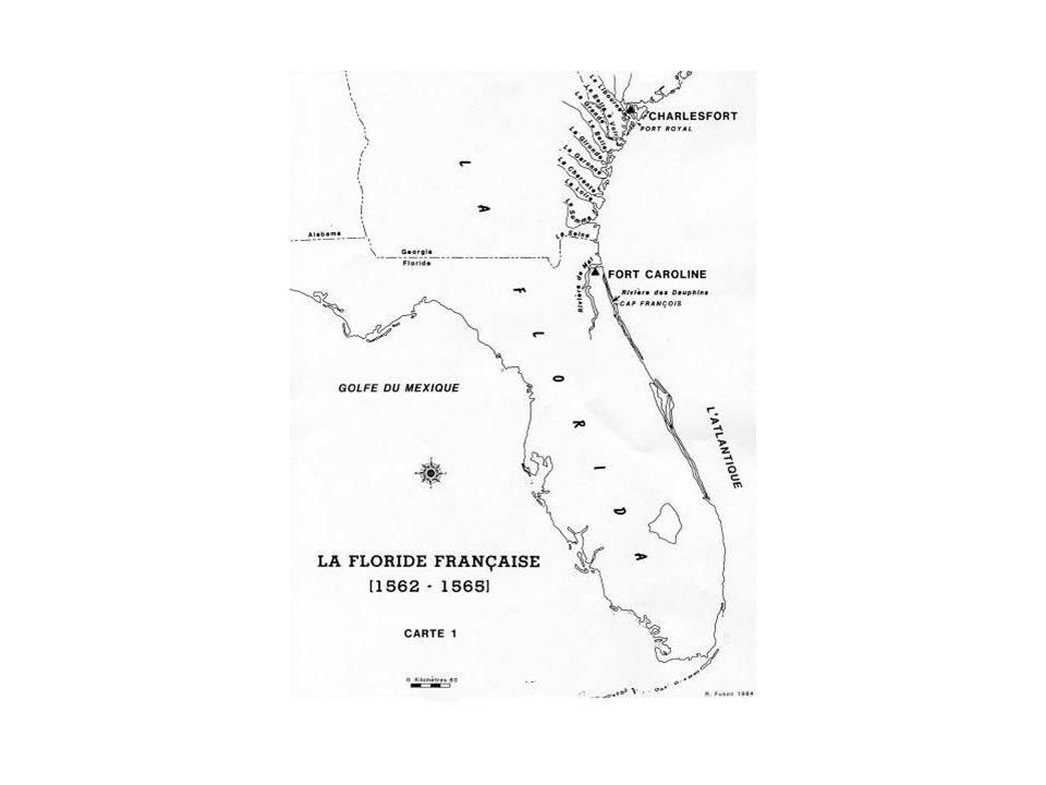Toponymic Traces Cap François *Cape Francis Rivière de Mai *Amelia Island Mayport US Naval Station May River (SC) Fort Caroline Fort Caroline National Memorial Port Royal Port Royal Sound (SC)