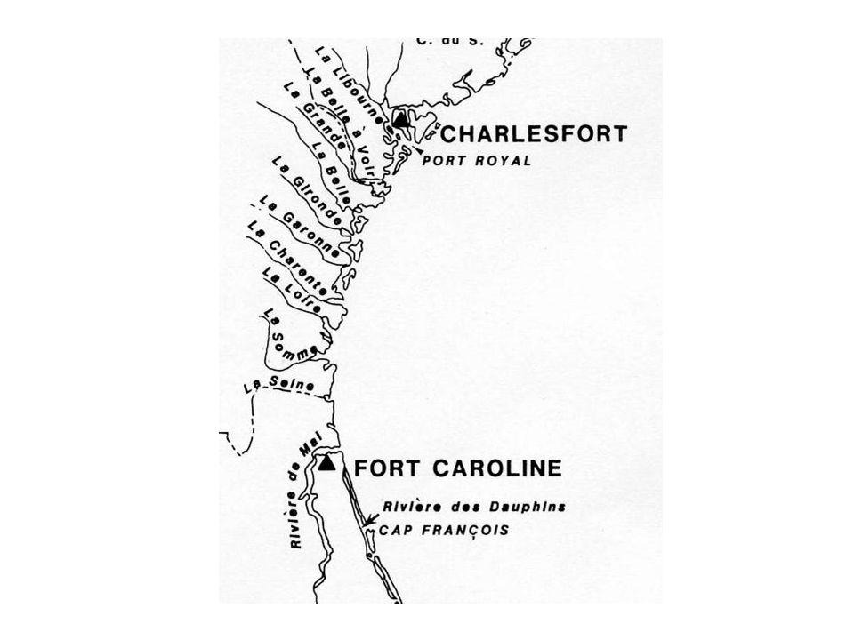 Sequence according to de Laudonnière Loire, Charente, Garonne, Gironde Belle, Grande Belle à voir Port-Royal
