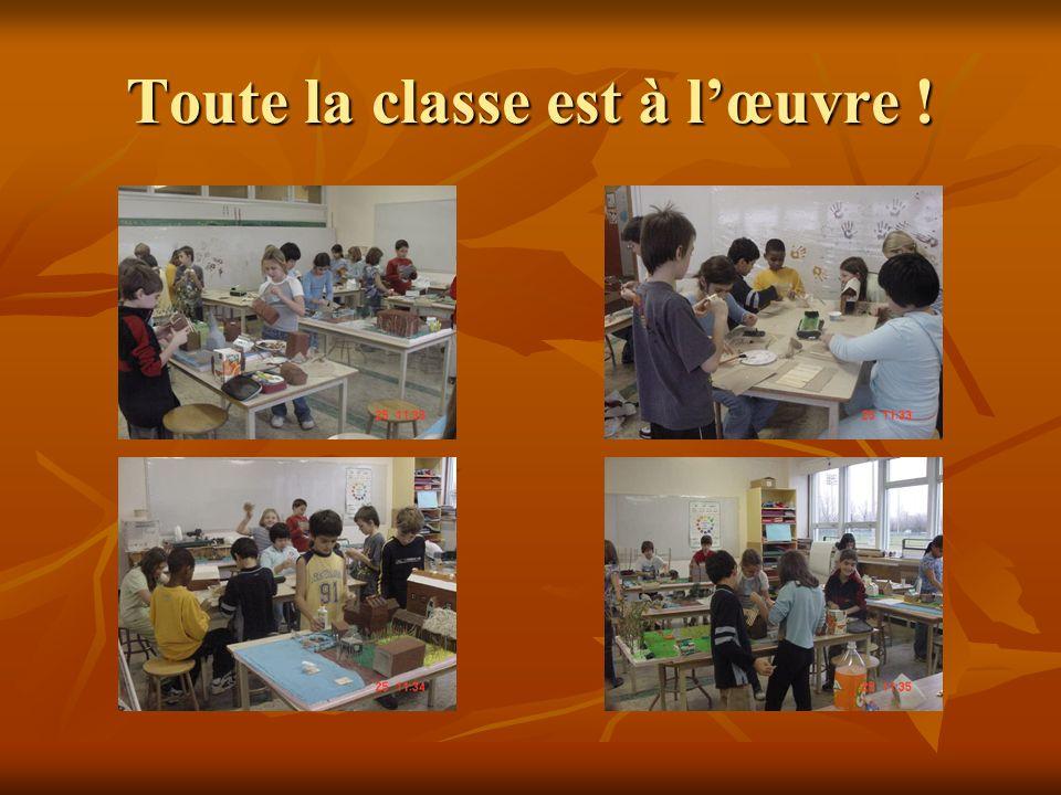 Toute la classe est à lœuvre !