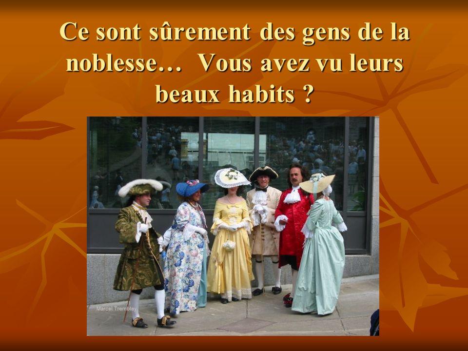 Ce sont sûrement des gens de la noblesse… Vous avez vu leurs beaux habits ?