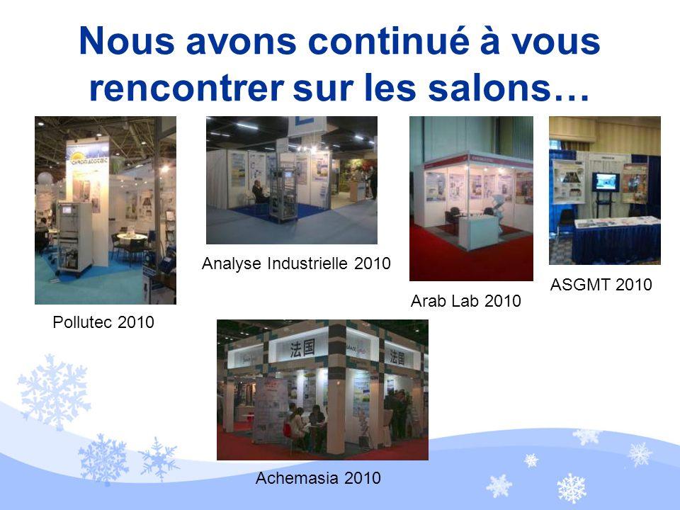 Durant lannée 2010 … ~~ Pour nous contacter : info@chromatotec.com ~~ AMERIQUE Houston - USA EUROPE Bordeaux- FRANCE ASIE Beijing- CHINE
