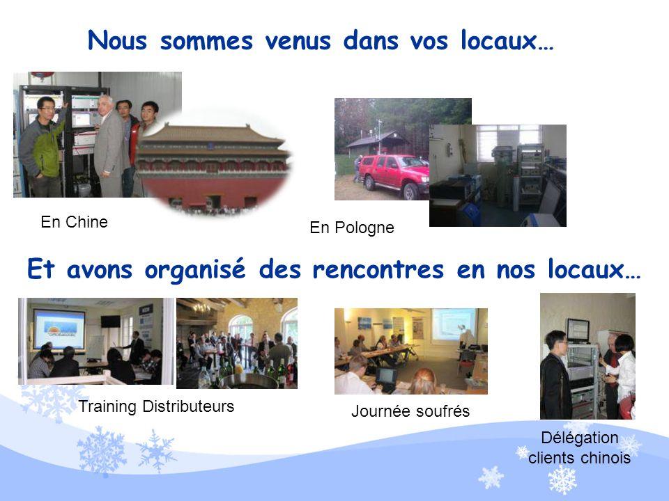Nous avons continué à vous rencontrer sur les salons… Pollutec 2010 Analyse Industrielle 2010 Arab Lab 2010 ASGMT 2010 Achemasia 2010