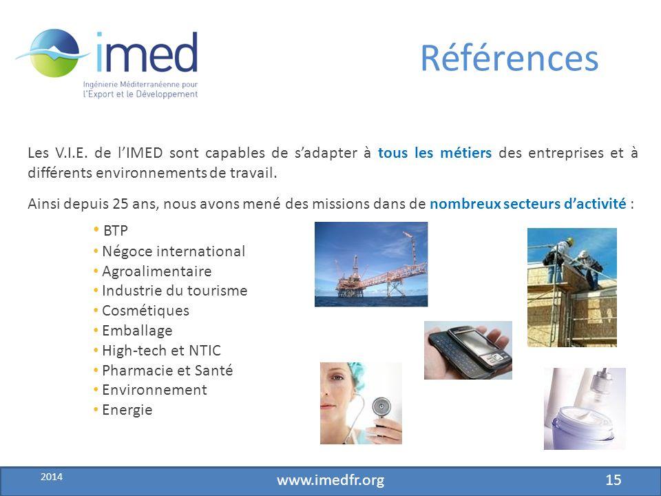 Développement IMED – fév.2010 Références Les V.I.E.