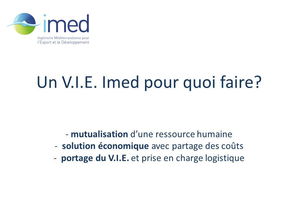 Développement IMED – fév.2010 Un V.I.E. Imed pour quoi faire.