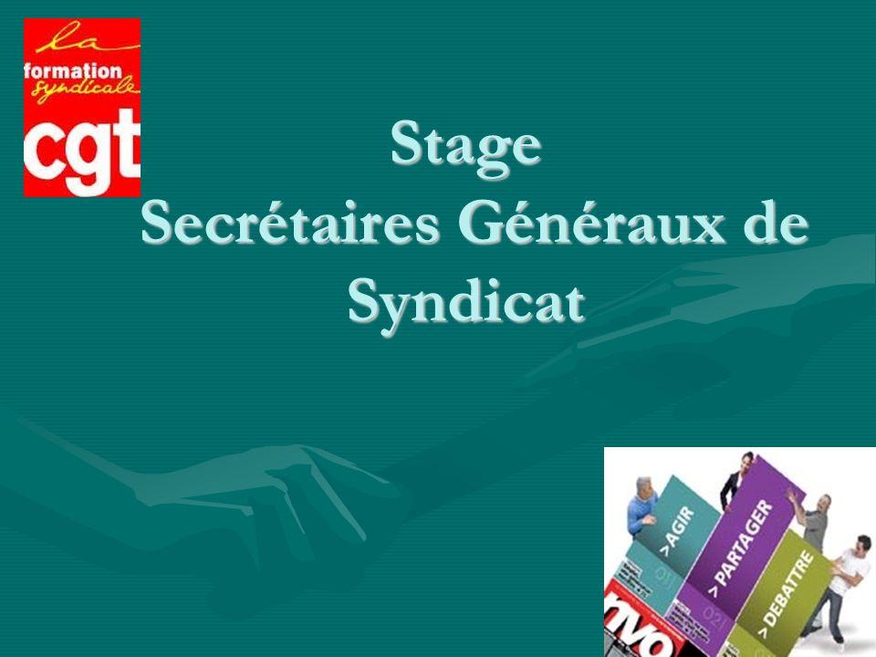 1 Stage Secrétaires Généraux de Syndicat