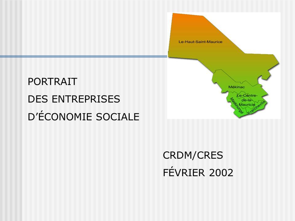 PORTRAIT DES ENTREPRISES DÉCONOMIE SOCIALE CRDM/CRES FÉVRIER 2002