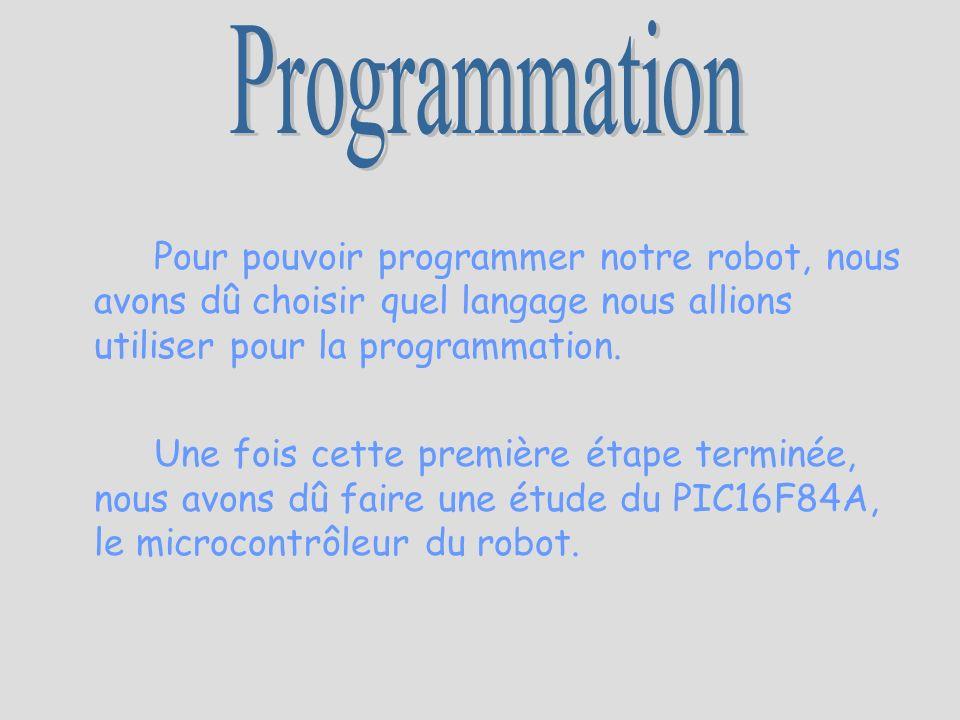 Pour pouvoir programmer notre robot, nous avons dû choisir quel langage nous allions utiliser pour la programmation. Une fois cette première étape ter