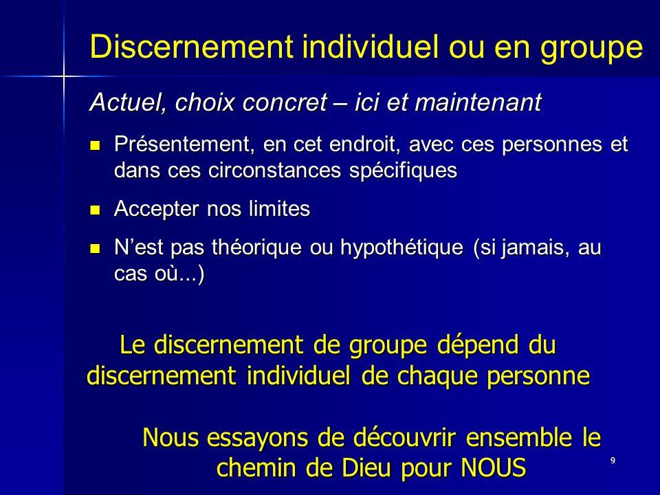 10 Discernement et prière Le discernement émerge dune relation avec Dieu.
