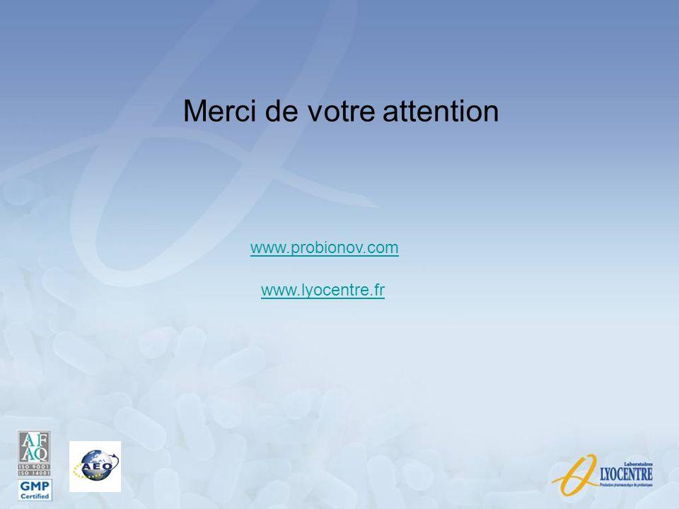Merci de votre attention www.probionov.com www.lyocentre.fr