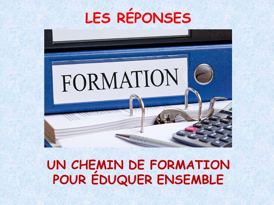 LES RÉPONSES UN CHEMIN DE FORMATION POUR ÉDUQUER ENSEMBLE