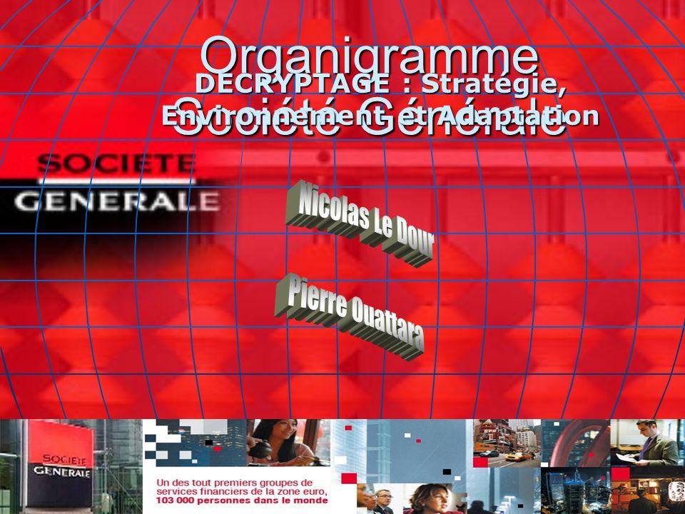 Organigramme Société Générale DECRYPTAGE : Stratégie, Environnement et Adaptation