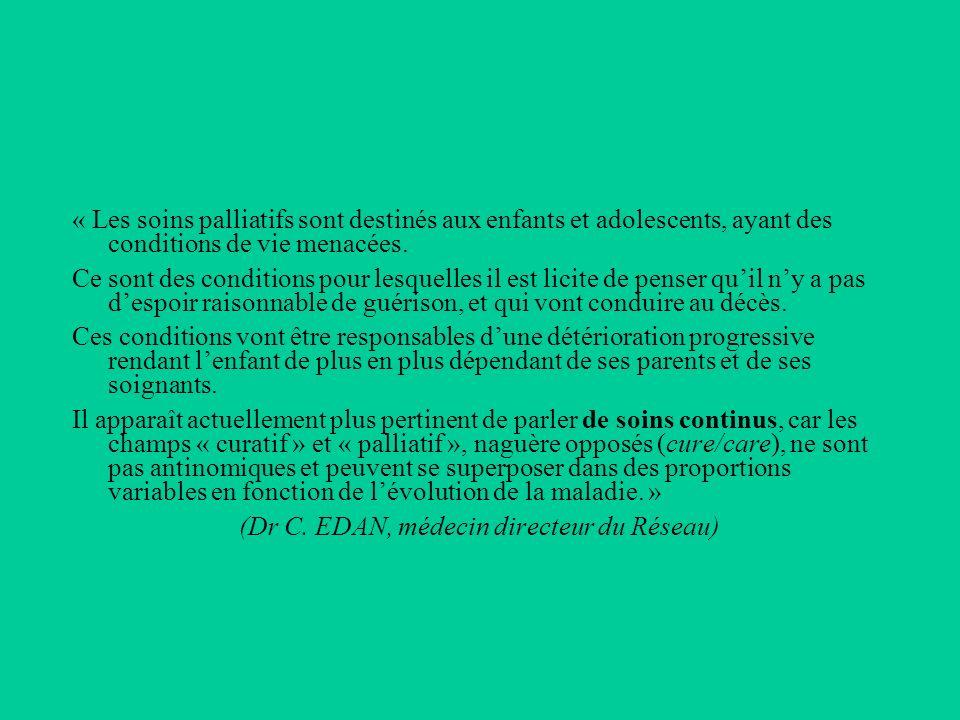 LA BRISE Prend en charge les enfants (de 0 à 18 ans) en soins palliatifs (atteints de maladie grave, évolutive, ne disposant pas dun traitement curatif ) Toute pathologie confondue (cancer, maladie neuro-dégénérative, métabolique, génétique, handicap…) Sans durée pré-établie Dans sa globalité (santé, famille, fratrie, école, loisirs…) Assure un suivi post-décès (accompagnement social, aide psychologique, écoute) Lorigine des prises en charge: majoritairement les CHU de Rennes et de Brest, mais aussi les structures daccueil (pouponnières Ty Yann, Rey-Leroux), les IME, les MPR (Beaulieu, Handas…), etc…
