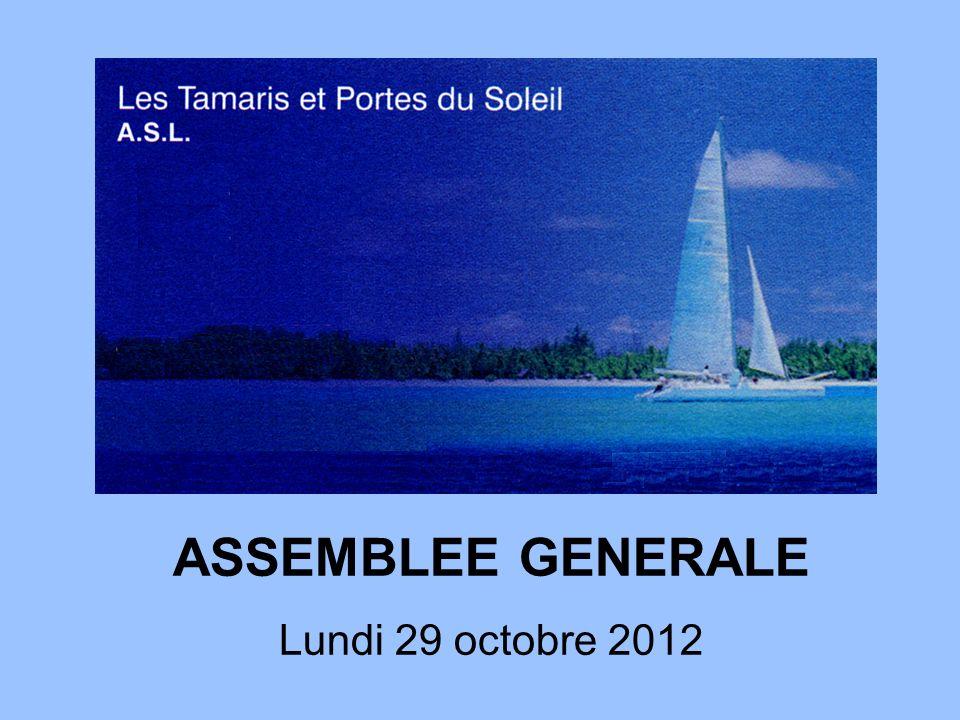 ASSEMBLEE GENERALE Lundi 29 octobre 2012