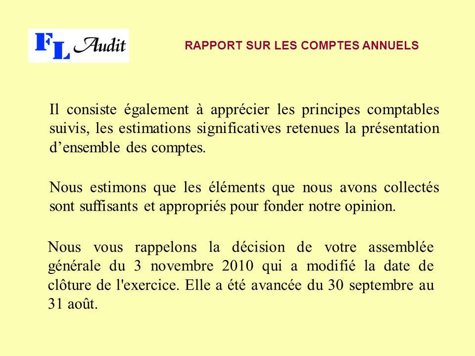 C est ainsi que l exercice 2011-2012 a repris une durée de 12 mois alors que l exercice 2010-2011 navait eu quune durée de 11 mois.