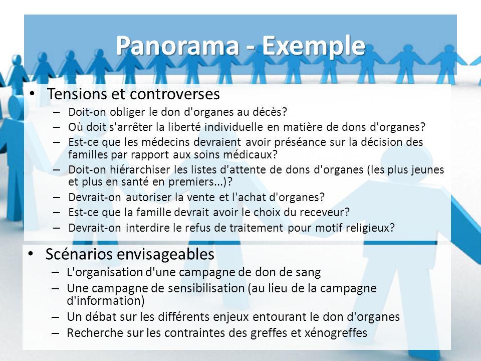 Panorama - Exemple Tensions et controverses – Doit-on obliger le don d organes au décès.