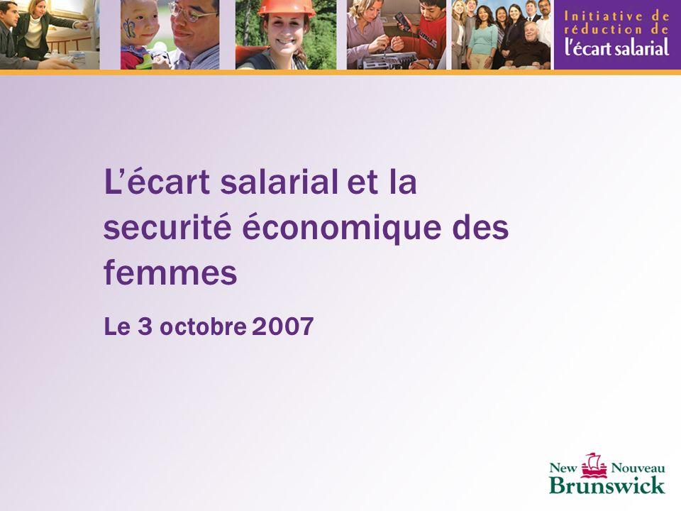 Lécart salarial et la securité économique des femmes Le 3 octobre 2007