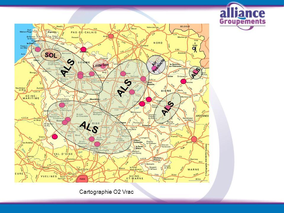 SOL Air Products Linde Gas ALS Cartographie O2 Vrac ALS