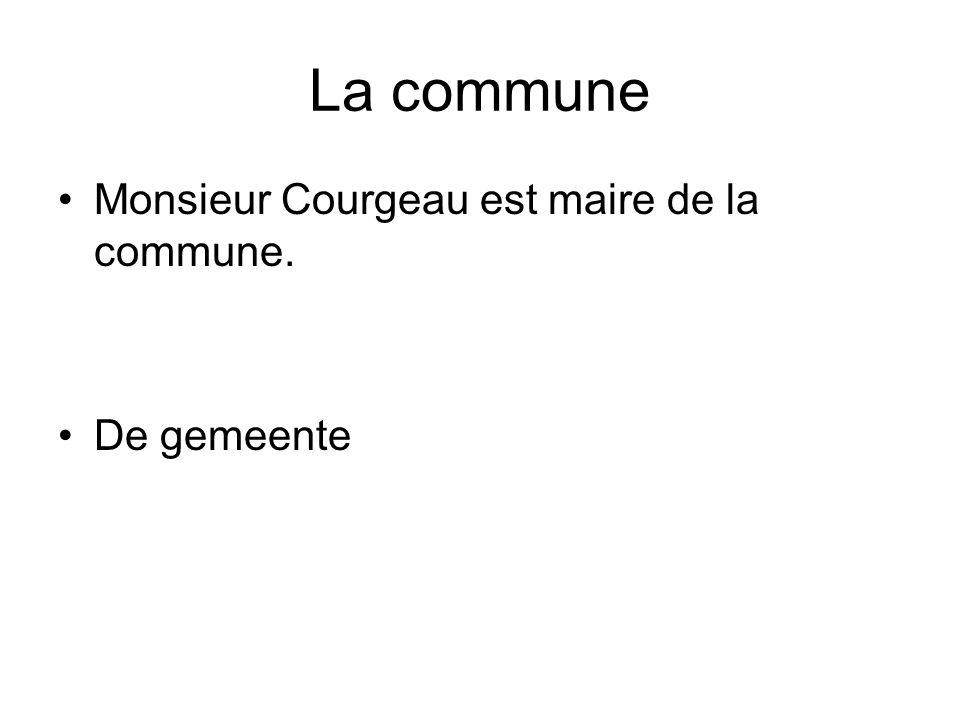 La commune Monsieur Courgeau est maire de la commune. De gemeente