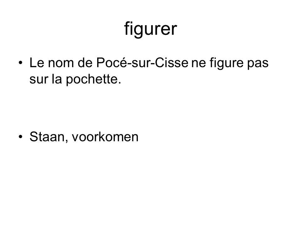 figurer Le nom de Pocé-sur-Cisse ne figure pas sur la pochette. Staan, voorkomen