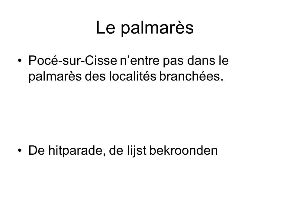 Le palmarès Pocé-sur-Cisse nentre pas dans le palmarès des localités branchées.