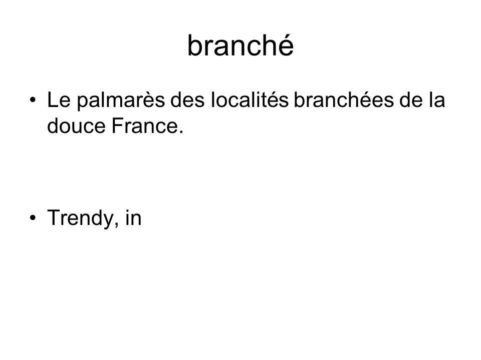 branché Le palmarès des localités branchées de la douce France. Trendy, in