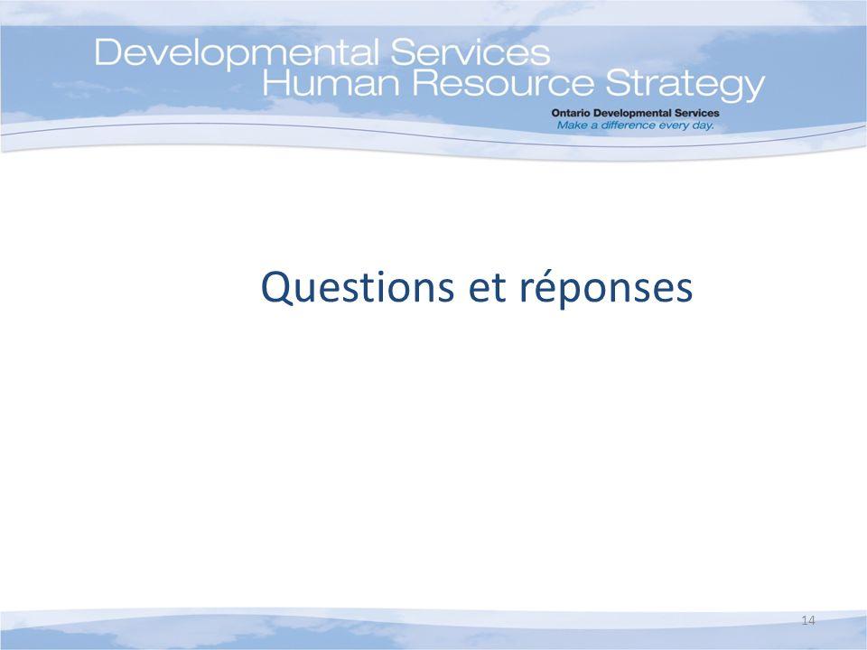 Questions et réponses 14