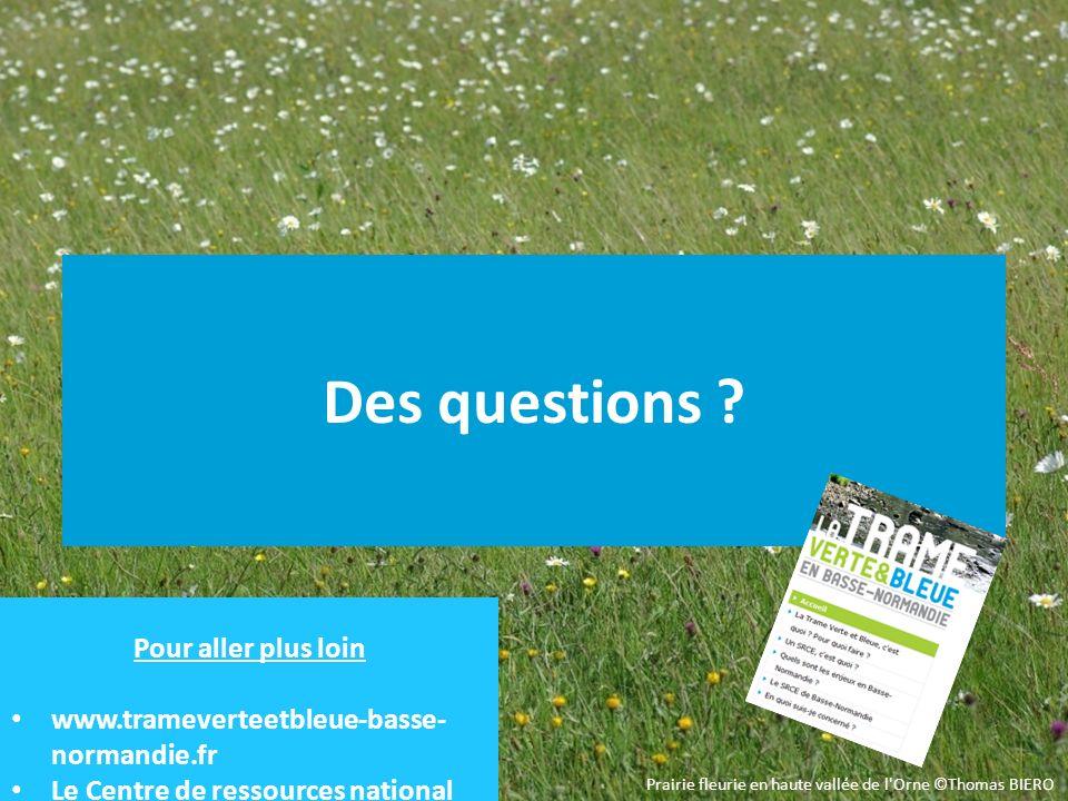 Des questions ? Prairie fleurie en haute vallée de l'Orne ©Thomas BIERO Pour aller plus loin www.trameverteetbleue-basse- normandie.fr Le Centre de re