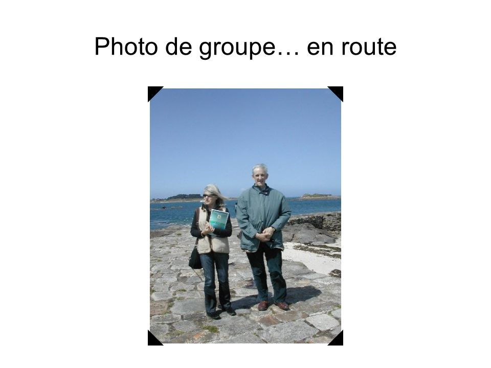 Photo de groupe… en route