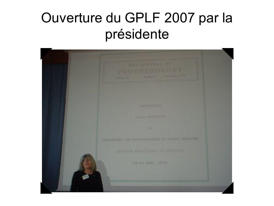 Ouverture du GPLF 2007 par la présidente