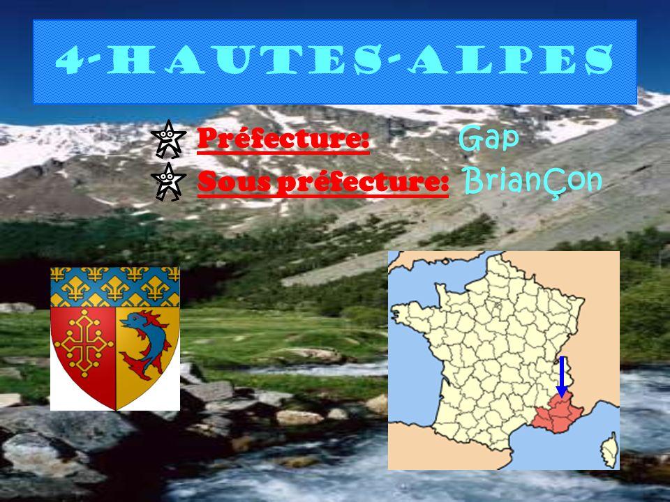 4-Hautes-Alpes Préfecture: Gap Sous préfecture: BrianÇon
