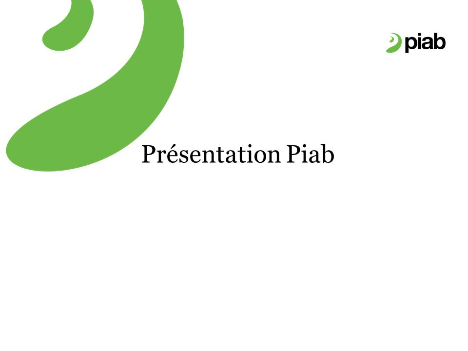 Présentation Piab