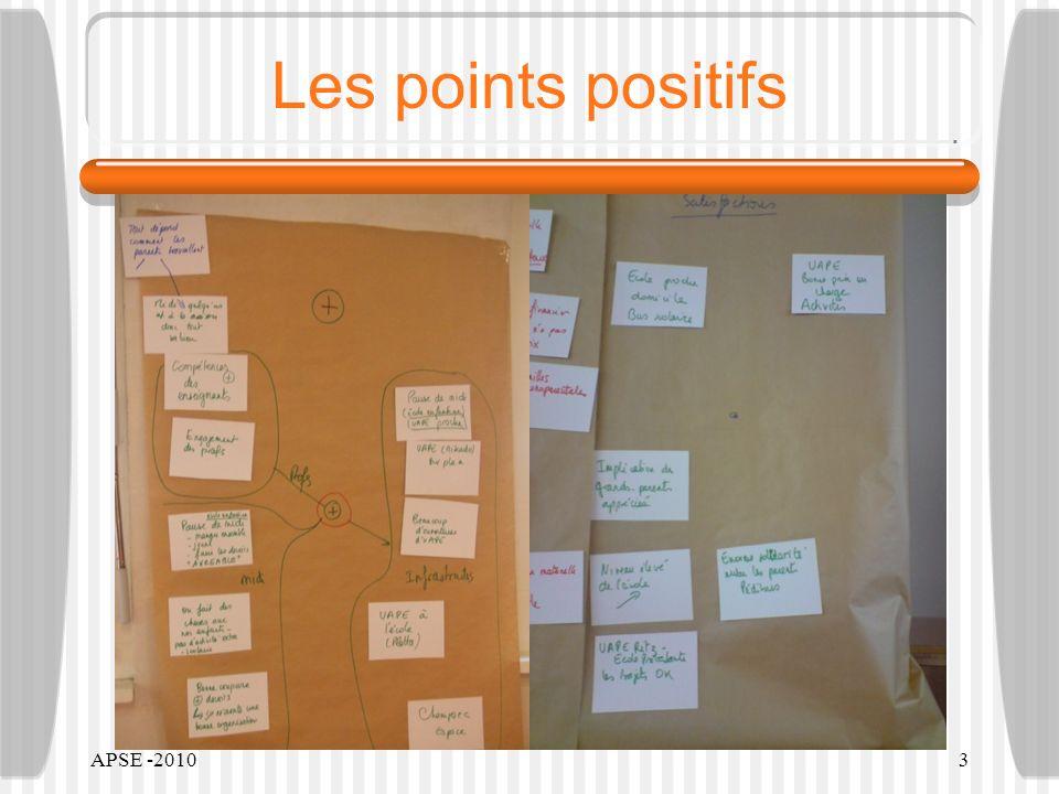 APSE -20103 Les points positifs